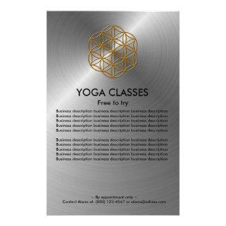 La yoga clasifica el aviador tarjeta publicitaria