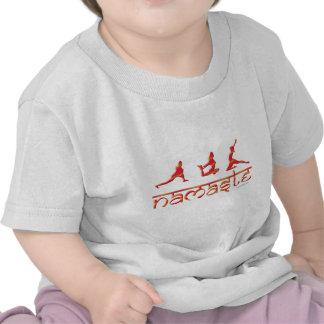 La yoga de Namaste presenta el naranja Camiseta