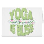 La yoga es camisetas de la dicha felicitaciones