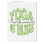 La yoga es camisetas de la dicha tarjeton