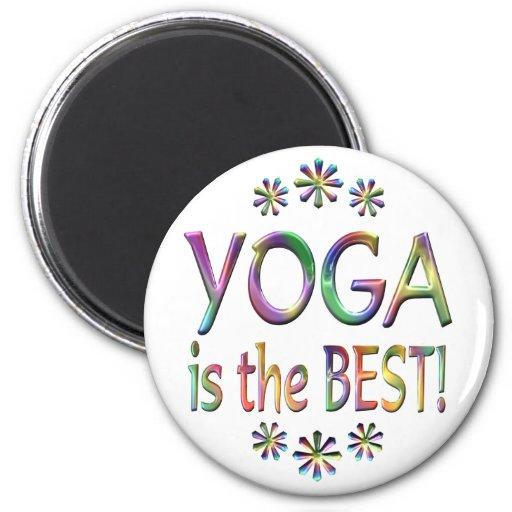 La yoga es el mejor imán redondo 5 cm