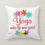 La yoga es especial cojines