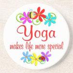 La yoga es especial posavasos manualidades