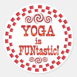 La yoga es Funtastic Pegatina Redonda