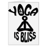 La yoga es regalos de la dicha tarjetas