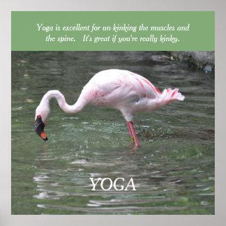 La yoga está para el poster/la impresión rizados póster
