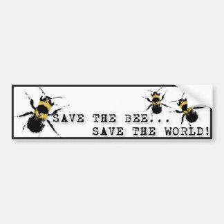 La yoga habla: ¡Ahorre la reserva de la abeja… el  Pegatina De Parachoque