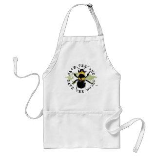 La yoga habla ¡Ahorre la reserva de la abeja… el Delantales