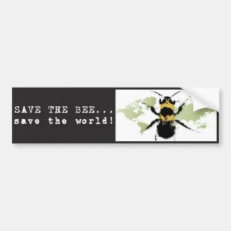 La yoga habla: ¡Ahorre la reserva de la abeja… el  Pegatina Para Auto