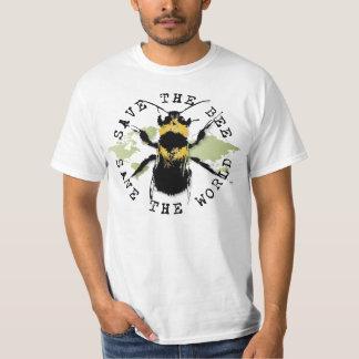 La yoga habla: ¡Ahorre la reserva de la abeja… el Remeras