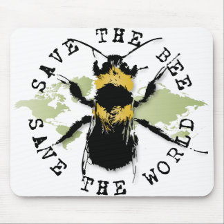 La yoga habla: ¡Ahorre la reserva de la abeja… el  Alfombrillas De Raton