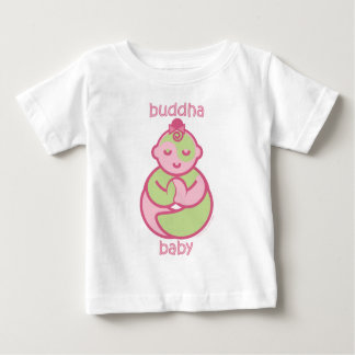 La yoga habla al bebé: Bebé rosado de Buda Tee Shirts