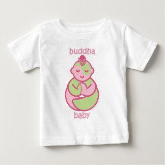 La yoga habla al bebé: Bebé rosado de Buda Playera De Bebé