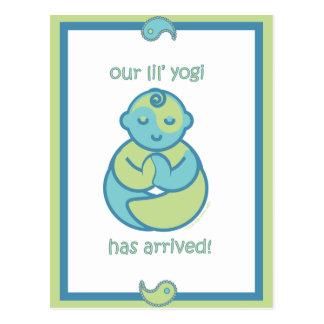 La yoga habla al bebé: Postal de la yogui de Lil