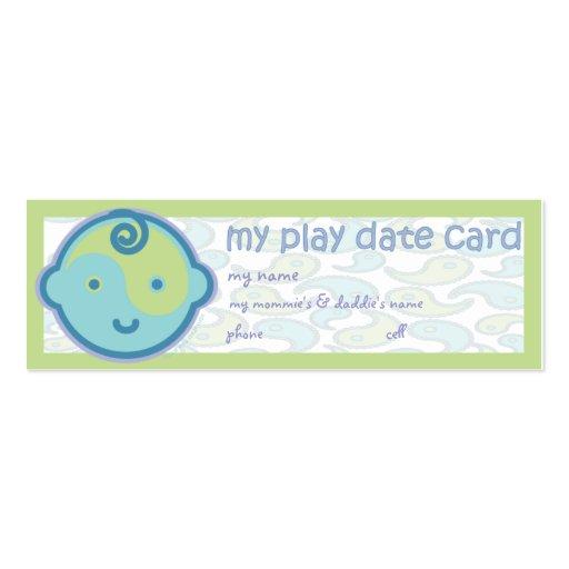 La yoga habla al bebé: Tarjeta de fecha del juego Tarjetas De Visita Mini