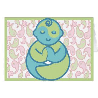 La yoga habla al bebé: Tarjeta de felicitación del