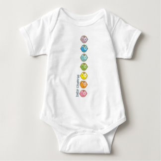 La yoga habla al bebé: Todo el bebé Chakras Playera