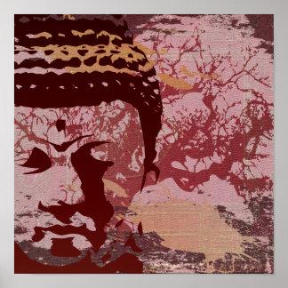La yoga habla: Impresión del árbol de Buda Poster