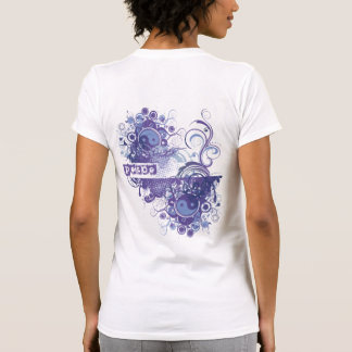 La yoga habla: Paz púrpura Chakra Tee Shirts