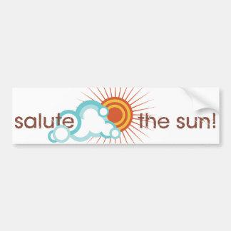 La yoga habla: ¡Salude el Sun! Pegatina De Parachoque