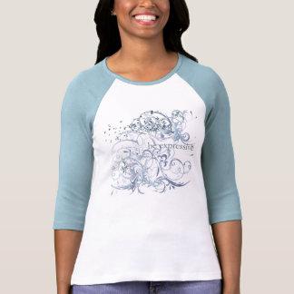 """La yoga habla: """"Sea"""" Chakra azul expresivo Tee Shirts"""