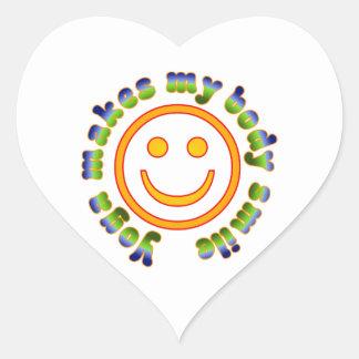 La yoga hace que mi cuerpo sonríe edad de la aptit pegatina corazón personalizadas