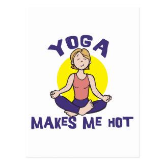 La yoga me hace caliente postales