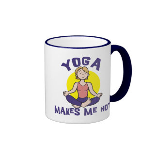 La yoga me hace caliente taza