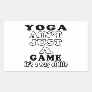 La yoga no es apenas un juego que es una manera de rectangular altavoz