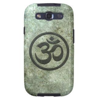 La yoga OM circunda con efecto de acero envejecido Galaxy S3 Funda