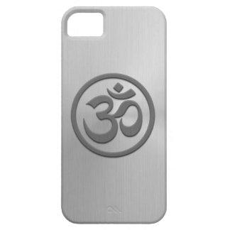 La yoga OM circunda con efecto del acero iPhone 5 Cobertura