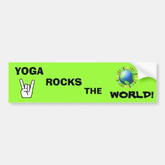 La yoga oscila a la pegatina para el parachoques d pegatina para auto