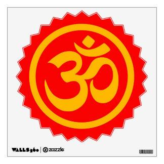 La yoga roja y amarilla OM circunda
