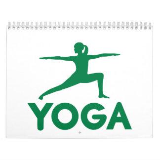 La yoga se divierte a la mujer calendarios