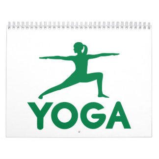 La yoga se divierte a la mujer calendarios de pared