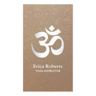 La yoga y la meditación OM firman el vintage Tarjetas De Visita