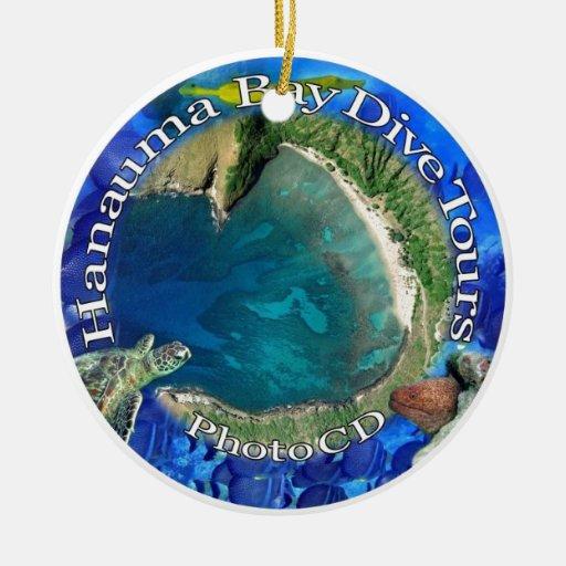 La zambullida de la bahía de Hanauma viaja al CD Adorno Redondo De Cerámica