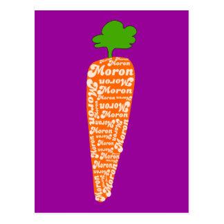La zanahoria en Galés es Imbécil - idiomas Postales