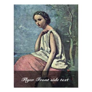 """La Zingara By Corot Jean-Baptiste-Camille (Best Qu 8.5"""" X 11"""" Flyer"""