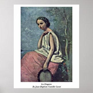 La Zingara By Jean-Baptiste Camille Corot Print