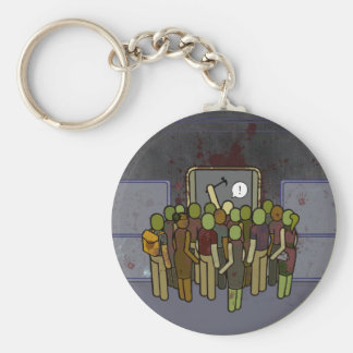 LA Zombie Metro Subway Satire Keychain