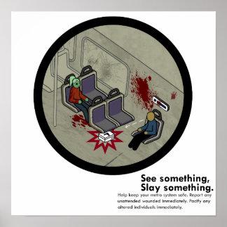 LA Zombie Metro Subway Satire Poster