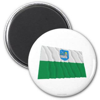 Lääne-Viru Waving Flag 2 Inch Round Magnet