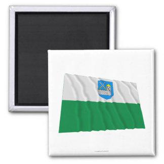 Lääne-Viru Waving Flag 2 Inch Square Magnet