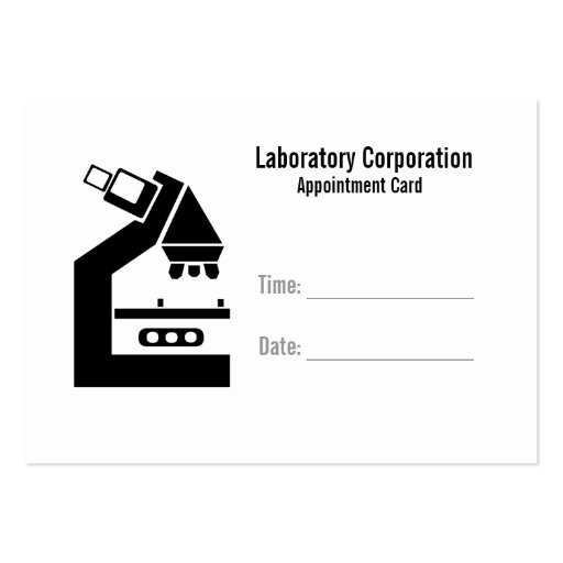 Appointment card template with lab 28 images appointment slip appointment card template with lab by lab appointment card business cards zazzle wajeb Gallery