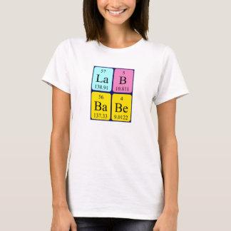 Lab Babe periodic table name shirt
