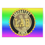 LAB BADGE LABORATORY SCIENCE GREETING CARD