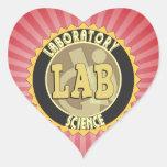 LAB BADGE LABORATORY SCIENCE HEART STICKER