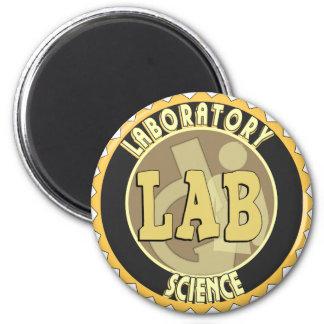 LAB BADGE LABORATORY SCIENCE MAGNET