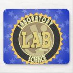 LAB BADGE LABORATORY SCIENCE MOUSE PAD